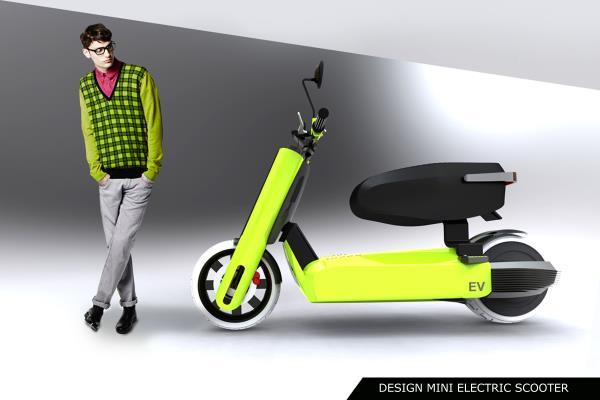 Design mini electric scooter