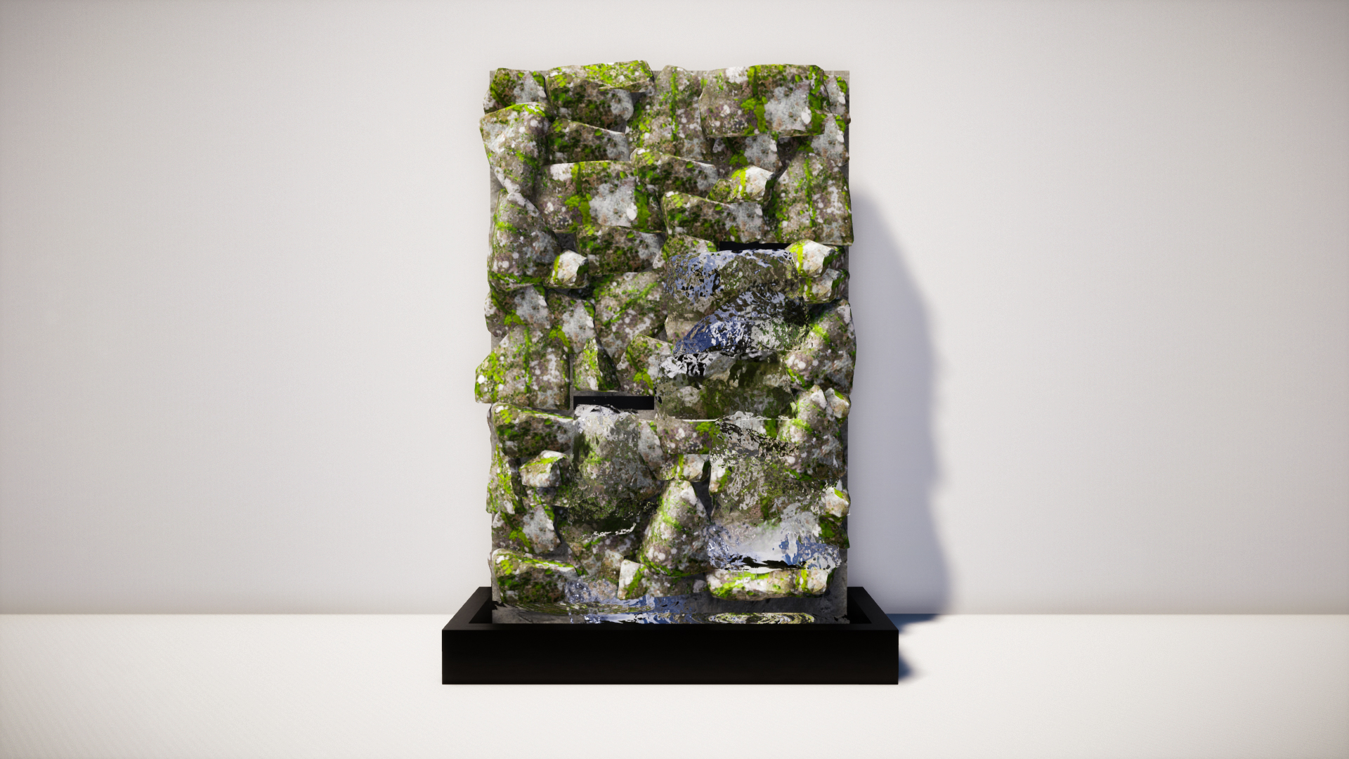 Modern Waterfall with Artificial Stone Wall