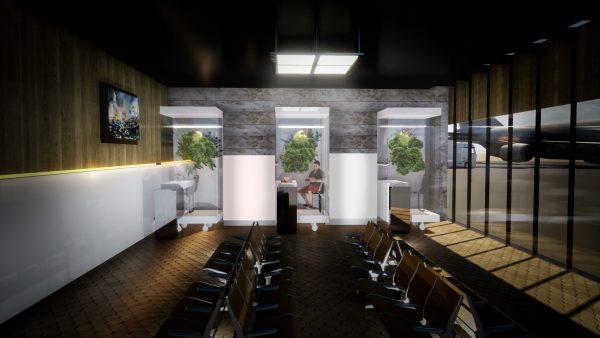 Vertical garden room